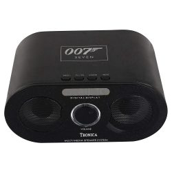 Tronica 007 Stereo Rechargable Sleek Remote Dual Speaker (Black)