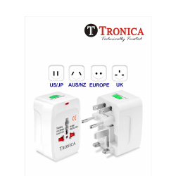 TRONICA Surge Protector All in One Universal Worldwide Travel Wall Charger AC Power AU UK US EU Conversion Plug Adapter