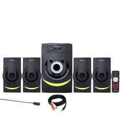 TRONICA DRUMMZ 4.1 Home Theater with Bluetooth/SD Card/Pen Drive/AUX/Mobile/TV /FM with 5.25″ WOOFER & Full Function Remote (4.1)